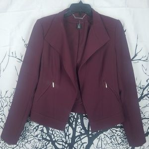 WHBM | Fitted Maroon Blazer Jacket size 6